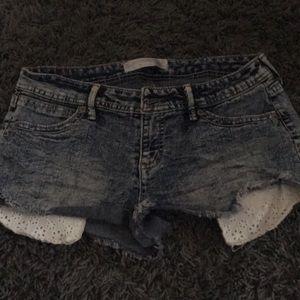 Navy Small Jean Shorts